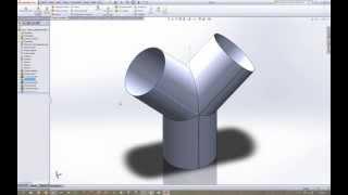 getlinkyoutube.com-Construção peça ''Y'' com Sheet Metal Solidworks 2013