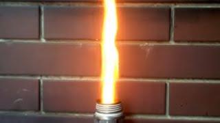 getlinkyoutube.com-牛乳パック燃料のミニロケットストーブ #11 rocket stove