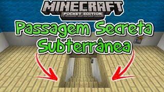 ⭐️Como fazer Passagem Secreta Subterrânea Minecraft PE 15.0 á 1.0.4