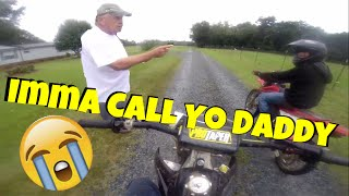 getlinkyoutube.com-Old Man Yell's At Kid's For Riding DirtBike's! EP-17