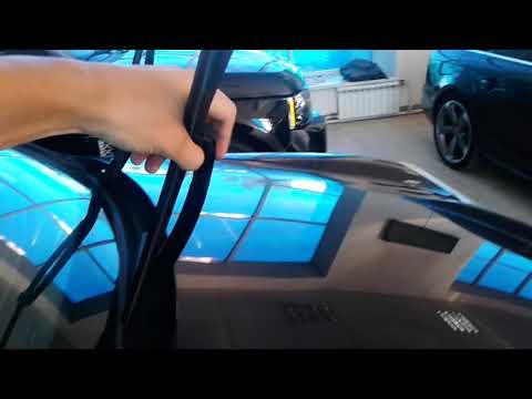 Видео: Как опустить дворники в Porsche Cayenne, Порше Кайен