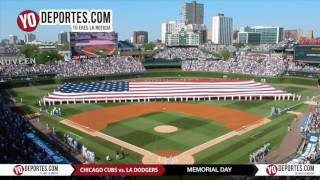 Chicago Cubs vs. Los Angeles Dodgers National Anthem Memorial Day