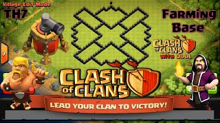 getlinkyoutube.com-Clash Of Clans l Best TH7 Farming Base With Air Sweeper