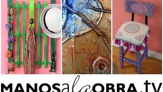 ManosalaObraTv - Programa 4 - Sellos y Stencils - Cuadros Mixed Media