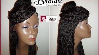 getlinkyoutube.com-Hand Braided Lace Wigs  - Senegalese Twist, Box Braids | House of Hairs