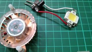 getlinkyoutube.com-LED Tutorial: Light a 10W LED from 12V - Simple & Cheap