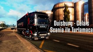 getlinkyoutube.com-ETS2MP | Duisburg - Calais | Scania ile Turlamaca | Banada Çarpıyorlar