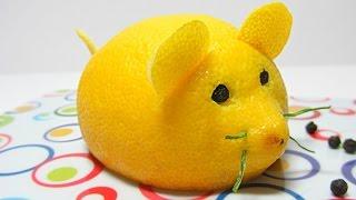 getlinkyoutube.com-Cocina: Cómo hacer un ratón limón. Mouse lemon.