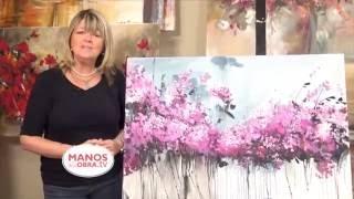 getlinkyoutube.com-Pintar Cuadro de Hortensias - Acrilico - Gabriela Mensaque