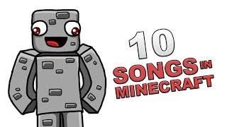 getlinkyoutube.com-10 SONGS IN MINECRAFT | 10 Songs in Real Life [Parodie] | Alphastein