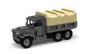 getlinkyoutube.com-Lego WWII Deuce and a Half CCKW Instructions