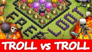 "getlinkyoutube.com-Clash Of Clans | TROLL vs TROLL | ""OMG FREE LOOT"" 