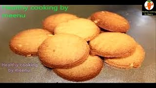 getlinkyoutube.com-Atta Biscuit eggless without oven