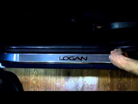 Наклейки на пороги для Renault Logan (Рено Логан)