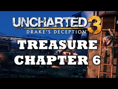 Uncharted 3 Treasure Locations: Chapter 6 [HD]