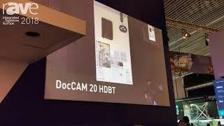 ISE 2018: Milestone's Vaddio Showcases Its DocCAM 20 HDBT In-Ceiling Document Camera