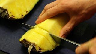 getlinkyoutube.com-Как правильно чистить и нарезать ананас