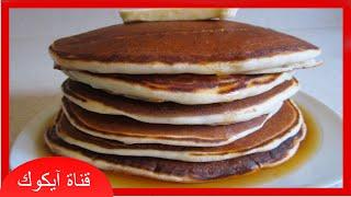 getlinkyoutube.com-وجبات فطور|طريقة عمل بان كيك سهل وخفيف فيديو عالي الجودة - pancakes