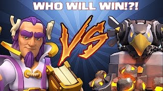 getlinkyoutube.com-Clash Of Clans - GRAND WARDEN VS. EAGLE ARTILLERY!! (Extra Footage of new hero and weapons)