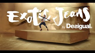 getlinkyoutube.com-Exotic Jeans by Desigual - A golden adventure