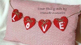 getlinkyoutube.com-Cojín reversible para San Valentín o Navidad