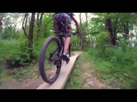 Mountain Biking at Flat Fork Creek Park in Fishers, IN
