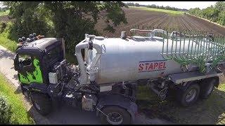 getlinkyoutube.com-Agrotruck Stapel mit Schleppschlauch Güllefass Landwirtschaft