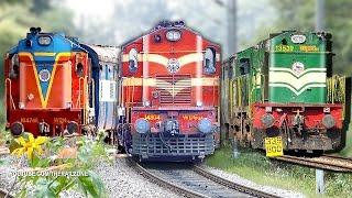 getlinkyoutube.com-Music of the Chugging Diesel Engines (ALCo's) : Indian Railways