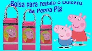 getlinkyoutube.com-Como hacer una bolsita de papel o Dulcero de  Peppa Pig   El Mundo de MyG