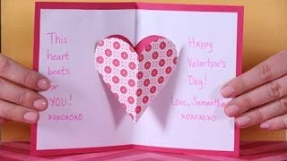getlinkyoutube.com-Valentine's Day Heart Pop-up Card