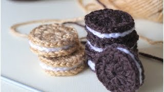 getlinkyoutube.com-How to Crochet Cream Filled Biscuits