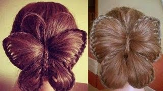 getlinkyoutube.com-Butterfly Braid! Trenza Mariposa