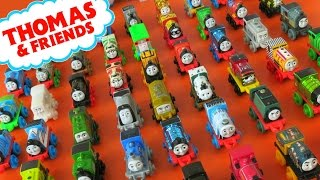 getlinkyoutube.com-NEW GIANT COLLECTION THOMAS & FRIENDS MINIS TANK ENGINES TRAINS DINO ROBO NEON
