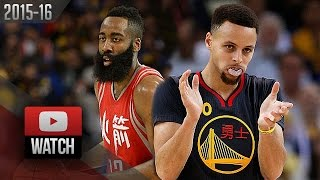 Stephen Curry vs James Harden DUEL Highlights (2016.02.09) Warriors vs Rockets - SICK!