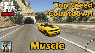 Fastest Muscle Cars (2017) - GTA 5 Best Fully Upgraded Cars Top Speed Countdown