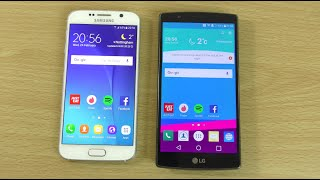getlinkyoutube.com-Samsung Galaxy S6 Official Android 6.0 Marshmallow VS LG G4 - Speed Comparison!