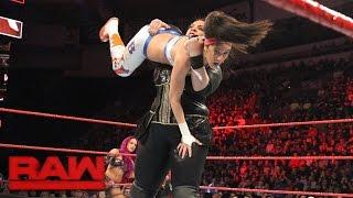 getlinkyoutube.com-Bayley & Sasha Banks vs. Charlotte Flair & Nia Jax: Raw, Feb. 27, 2017