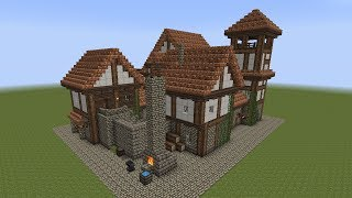 getlinkyoutube.com-Minecraft - Fachwerkhaus - Half-timbered House #1