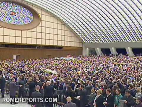 Pope holds final weekly general audience of the decade addresses Peter Lombard