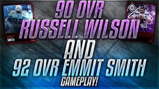 90 RUSSELL WILSON AND 92 EMMIT SMITH REVIEW! MADDEN MOBILE 17 CHAMPIONS AND LEGEND CARDS!