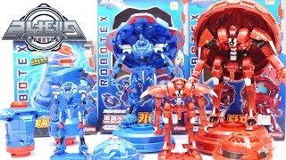 로보텍스 트랜스포밍 카이 타프 변신 팽이 로봇 장난감 ROBOTEX TRANSFORMING KAI TAFF Robot Toy Unboxing 하하키즈토이