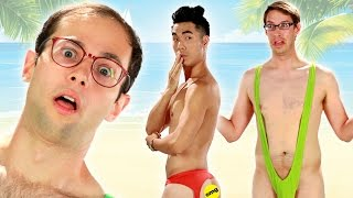 getlinkyoutube.com-The Try Guys Try Extreme Swimsuits