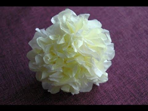 Jak zrobić kwiatek z bibuły. Tissue flowers  DIY