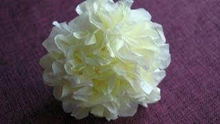getlinkyoutube.com-Jak zrobić kwiatek z bibuły. Tissue flowers  DIY