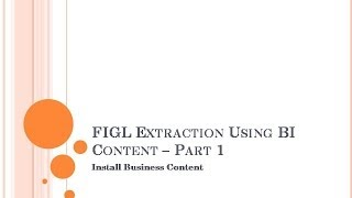 getlinkyoutube.com-SAP BW : FI Extraction   Part 1 -  Install BI Content