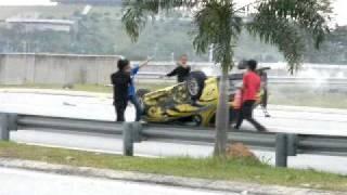 The Making of Evolusi KL Drift 2 - Toyota Supra crash width=