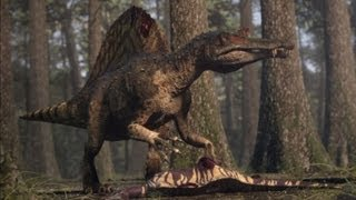 getlinkyoutube.com-Spinosaurus vs Carcharodontosaurus - The balance of power  - Planet Dinosaur - BBC
