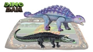 getlinkyoutube.com-DINO DAN : DINO DUELS #15 Anklyosaurus VS. Alligator