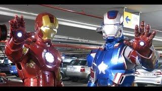 "getlinkyoutube.com-Iron Man and Iron Patriot Costume/Cosplay ""Oz Comic Con"""