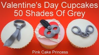 getlinkyoutube.com-Valentine's Day Fifty Shades Of Grey Cupcakes - Mardi Gras Mask Cupcakes